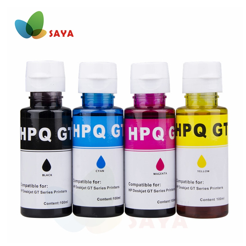 100ML/Flasche Universal Dye Tinte Für HP Deskjet GT51 GT52 GT5810 GT5820 GT Serie Inkjet Drucker Für GT 51 52 GT 5810 5820 Refill