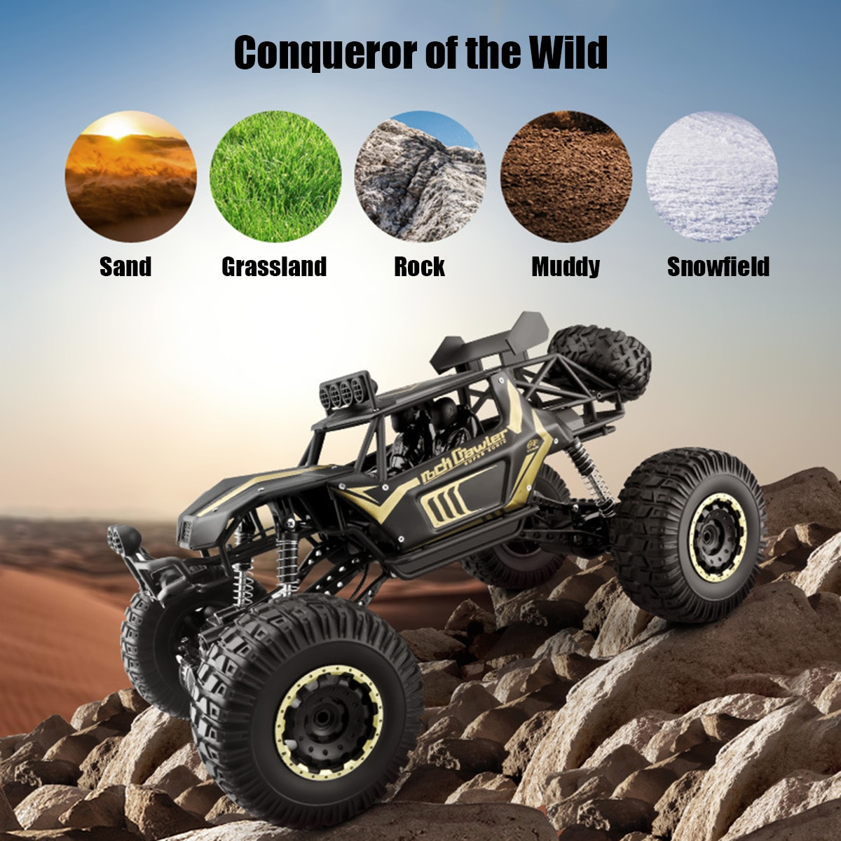 1:8 50cm RC Car 2.4G Radio Control 4WD Off-road Electric Vehicle Monster Buggy Remote Control Car Gift Toys For Children Boys enlarge