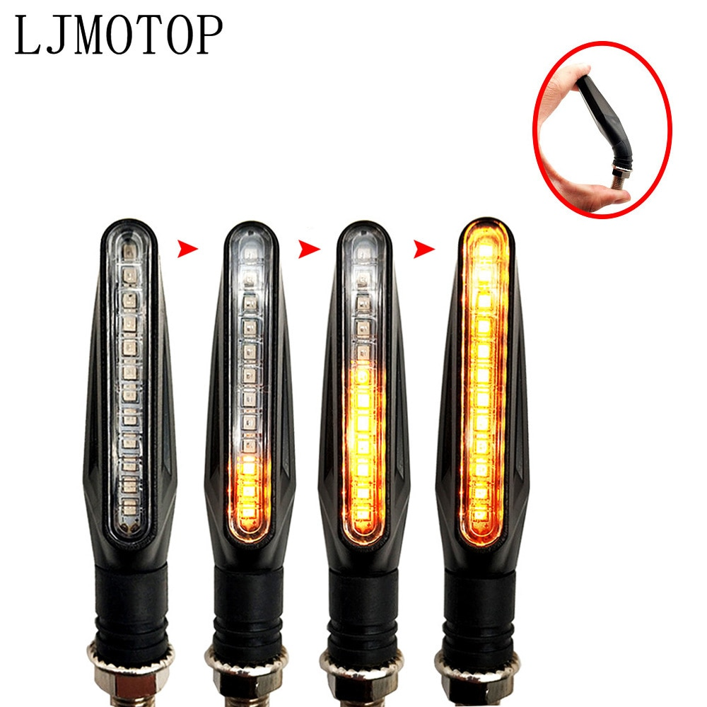 LED Motorrad Blinker Lichter Blinkende Signal Lampe Zubehör Für YAMAHA XSR 900 ABS XV 950 RACER TDM 900 MT-125/MT125