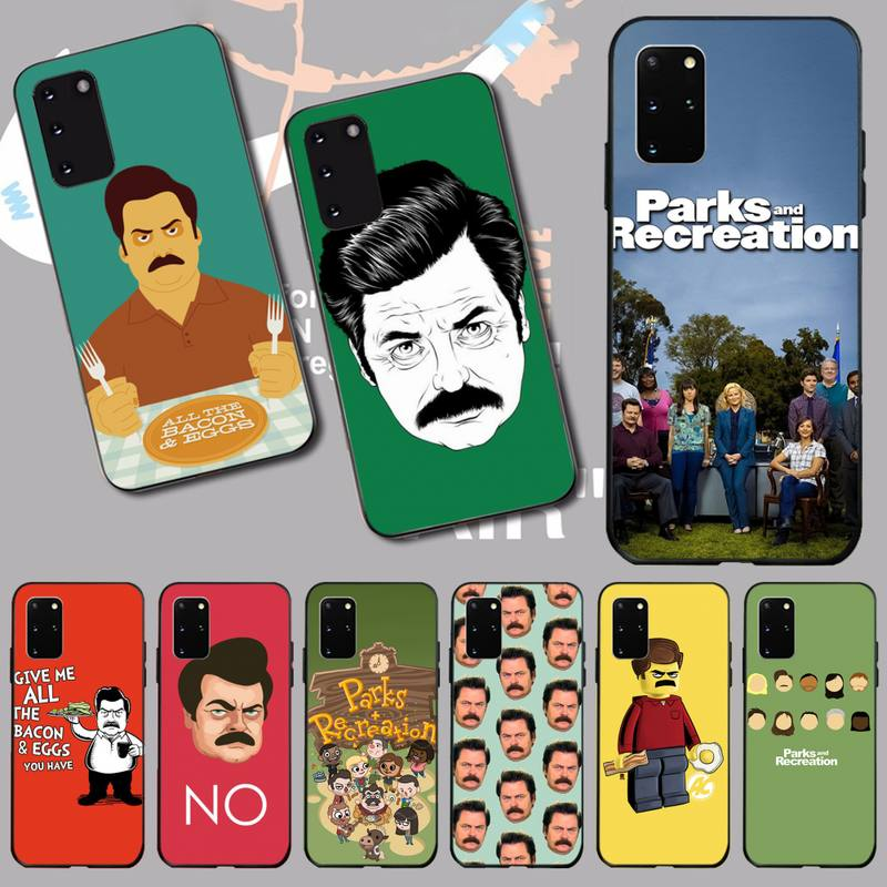 HPCHCJHM funny Parks and Recreation TPU Soft Silicone Phone Case Cover for Samsung S20 plus Ultra S6