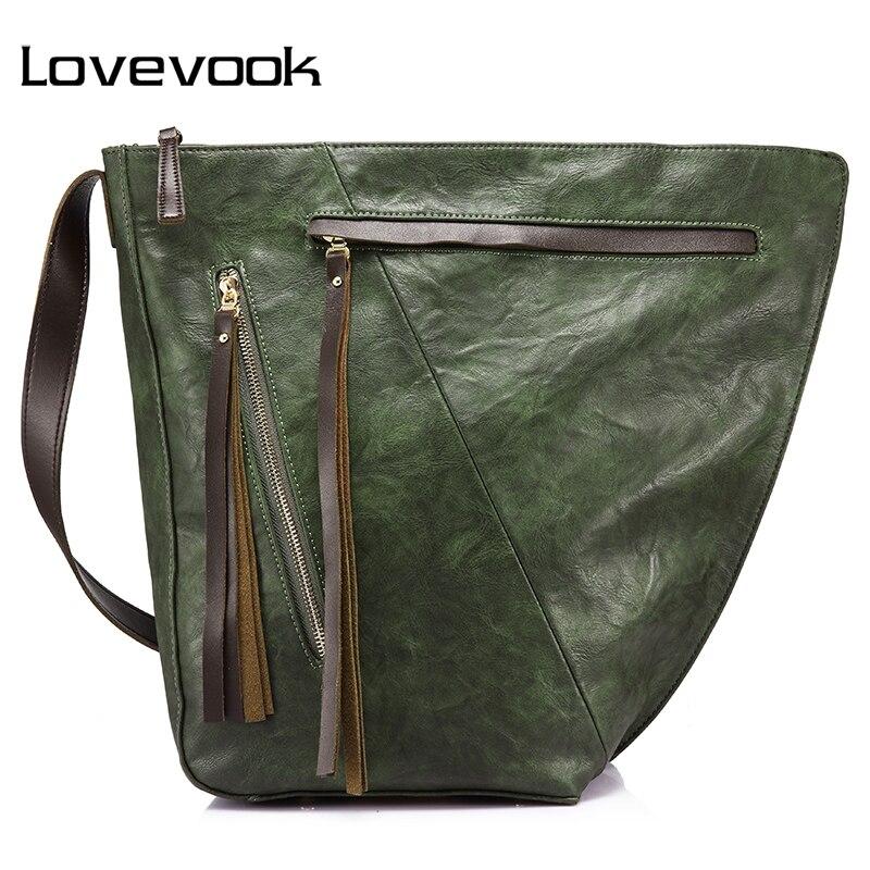 LOVEVOOK handbag female large capacity bucket bag women shoulder crossbody bag ladies messenger bags  with tassel high quality