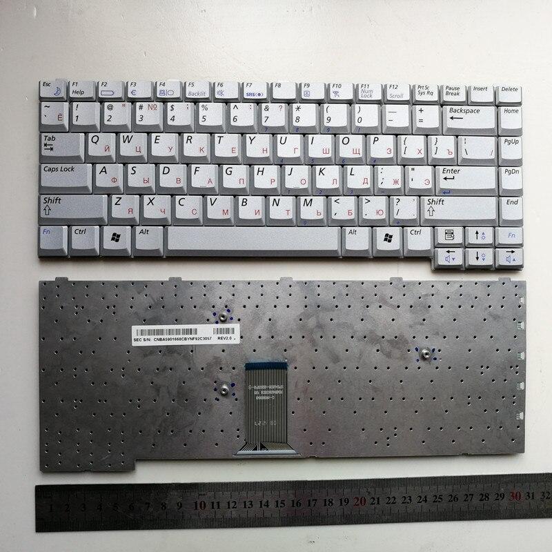 لوحة مفاتيح الكمبيوتر المحمول الروسية ، فضي ، لجهاز SAMSUNG NP R40 R39 R41 ، جديد