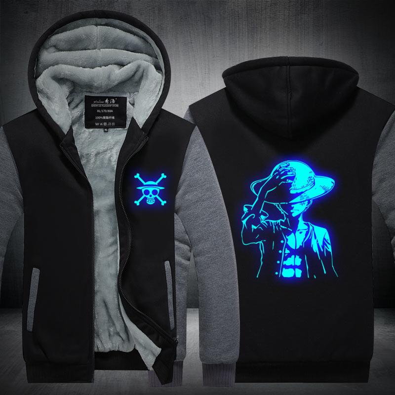 Fans Hergestellt Einem Stück Winter Hoodie Affe D. Luffy Choba Gesetz In der Nacht Zip Up Hoodies 3D Gedruckt Mit Kapuze Cosplay Sweatshirts