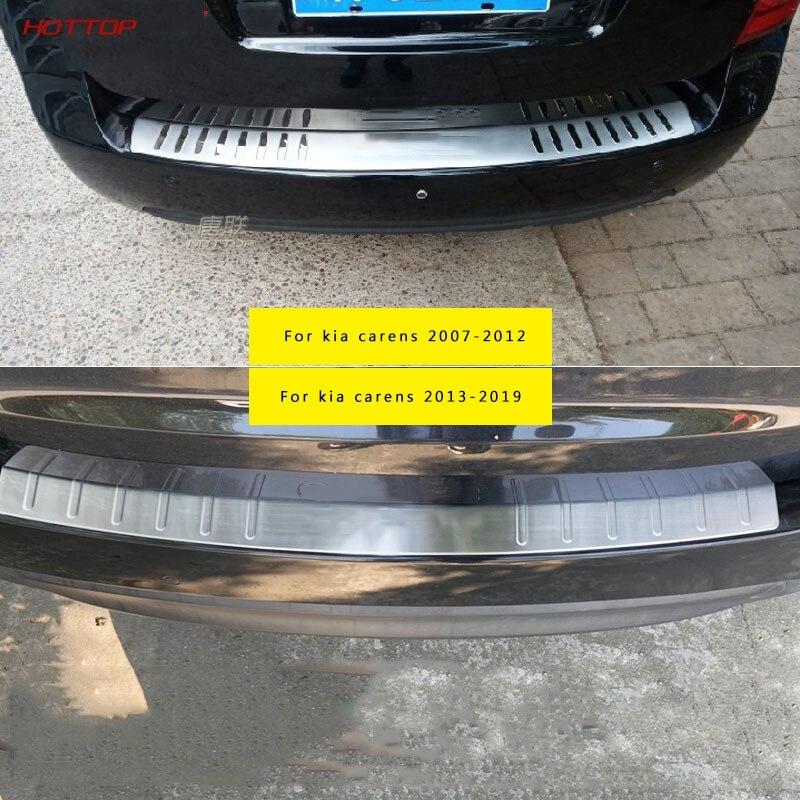 Para kia carens 2007-2019 coche exterior protectot de parachoques trasero alfeizar la placa de roda del maletero
