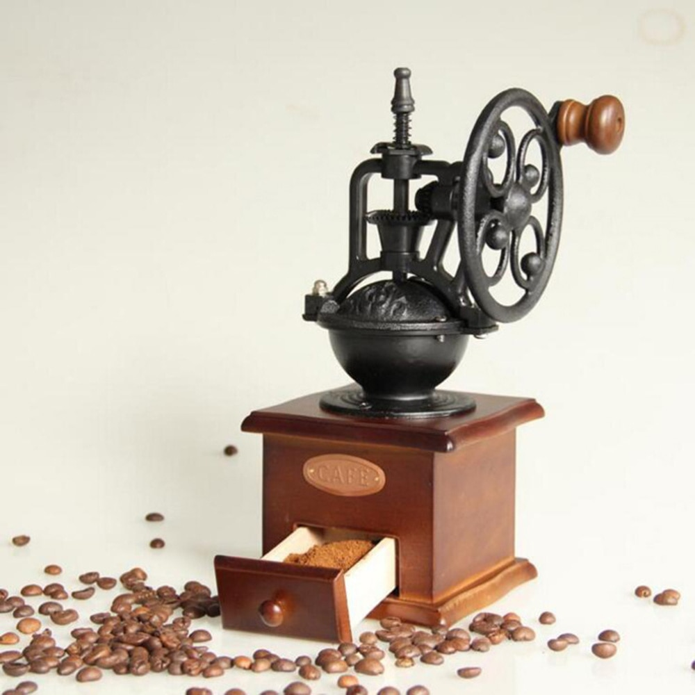 Vintage كرنك اليد طاحونة القهوة دليل حبوب البن طاحونة لوازم المطبخ للمنزل مقهى