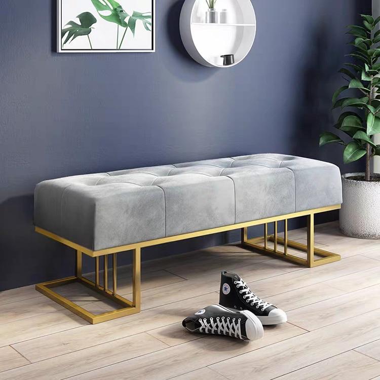 Скандинавская скамейка для обуви, пуфик для двери гостиной, простой современный диван для кровати, магазин одежды, обувной магазин, тестовы...