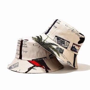 2021 four seasons Cotton print Bucket Hat Fisherman Hat outdoor travel hat Sun Cap for Men and Women 319