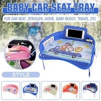 car baby safety seat tray table portable multifunctional cartoon baby child kid car seat chair toy food drink cellphone holder