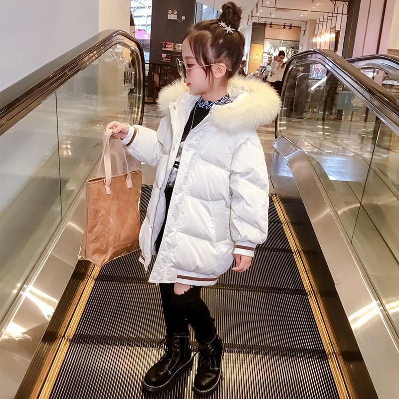 2020 Autumn Winter Girls Down Cotton Parkas Kids Girl Thicken Warm Jackets Children Fashion Hooded Outerwear for Baby Girls W590 enlarge