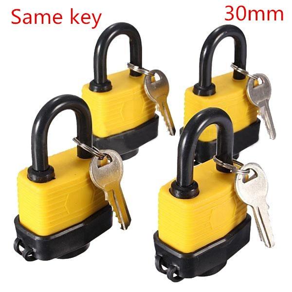 4pcs 30mm Waterproof same Lock Laminated Padlock Pad Same Key electricity box lock Gate Door