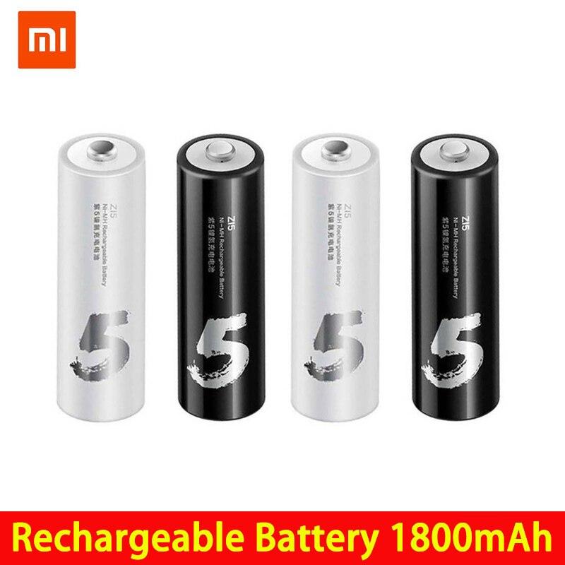 4 Uds./lote ZMI ZI7 ZI5 AAA AA 700mAh 1800mAh 1,2 V batería recargable Ni-MH banco de energía ZIM