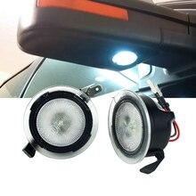 2 x beyaz altında LED yan ayna Puddle Ford F150 Raptor kenar Explorer Flex Lincoln Navigator Mark LT MKX