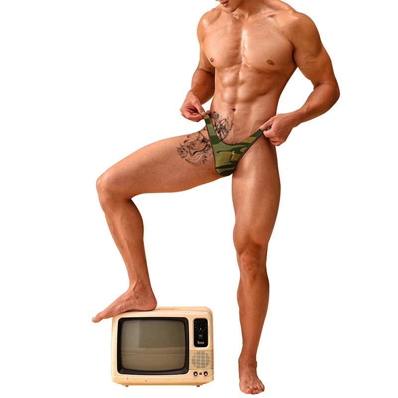 ADANNU Brand Sexy Men Underwear Men Briefs Gay Jockstraps Cotton Soft Mesh Male Underpants Cueca Tanga Bikini Low Waist Pants