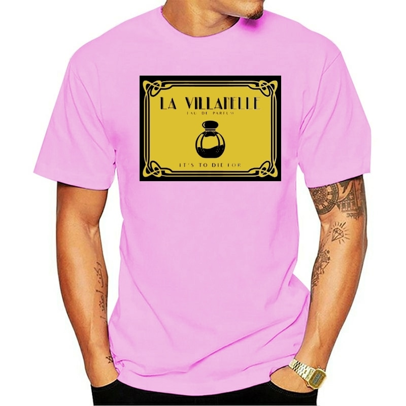 100% algodão o pescoço personalizado impresso camiseta masculina la villanelle-killing eve camiseta feminina