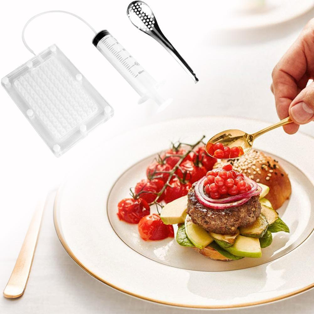 Steel Caviar Maker Molecular Gourmet Tools 100 Holes Kitchen Gadgets Cooking Decoration Equipment Kitchen Tools