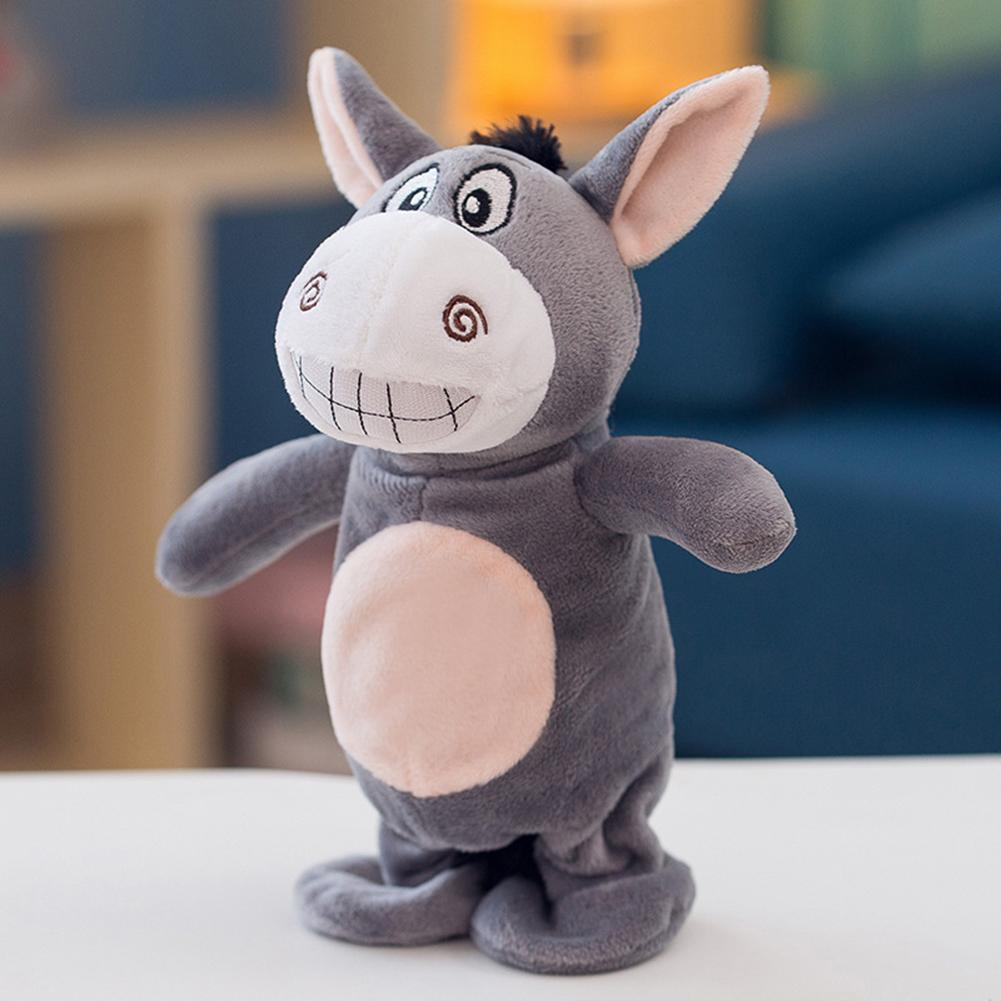 Электронный плюшевый Ослик говорящая игрушка Ослик электрические Домашние животные плюшевая запись умная ходящая игрушка милая говорящая музыка и прогулки Куклы Домашние животные