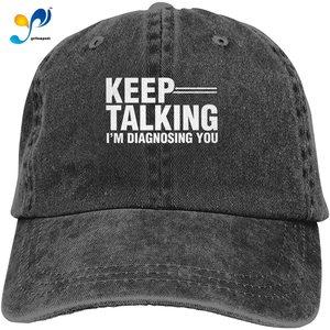 Keep Talking I'm Diagnosing You Classic Dad Baseball Cap Men's Trucker Hats
