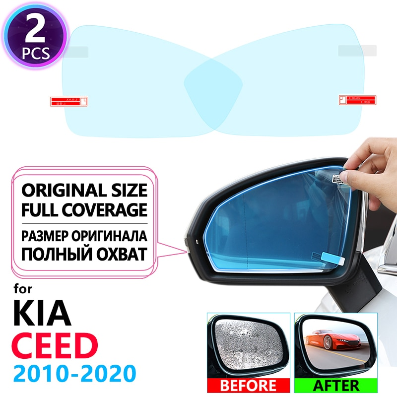 Full Cover Anti Fog Rainproof Film Rearview Mirror for KIA CEED 2010~2020 ED JD CD Accessories Cee'd SW GT 2013 2015 2017 2018