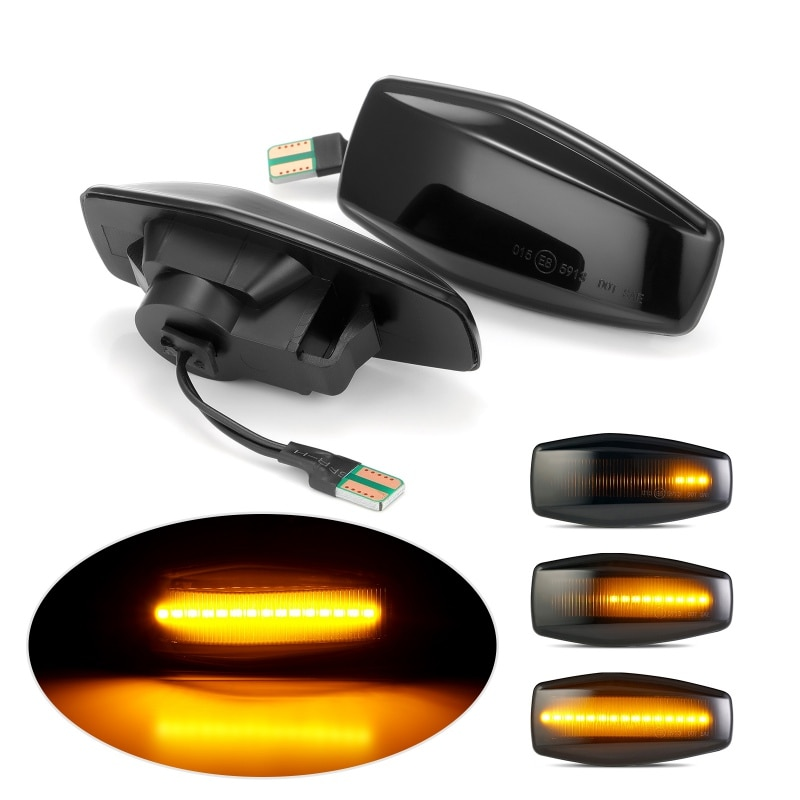 Legal led fluindo luz indicadora para hyundai plug play streamer marcador lateral transformar a luz do sinal para elantra getz xg tucson 2 pçs