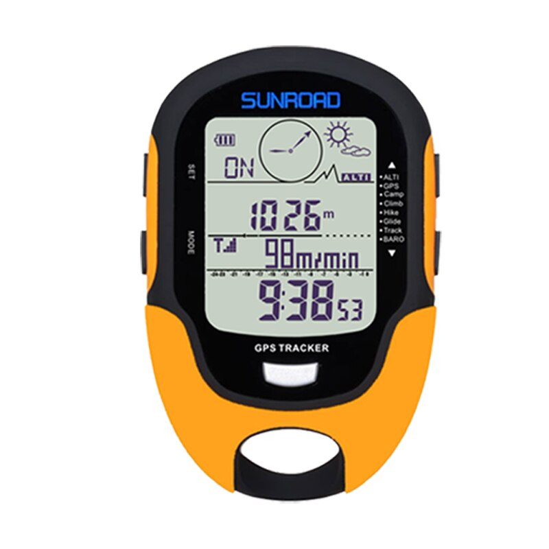 Sunroad outdoor GPS handheld pocket watch with altimeter compass temperature humidity led torch GPS tracker USB charge