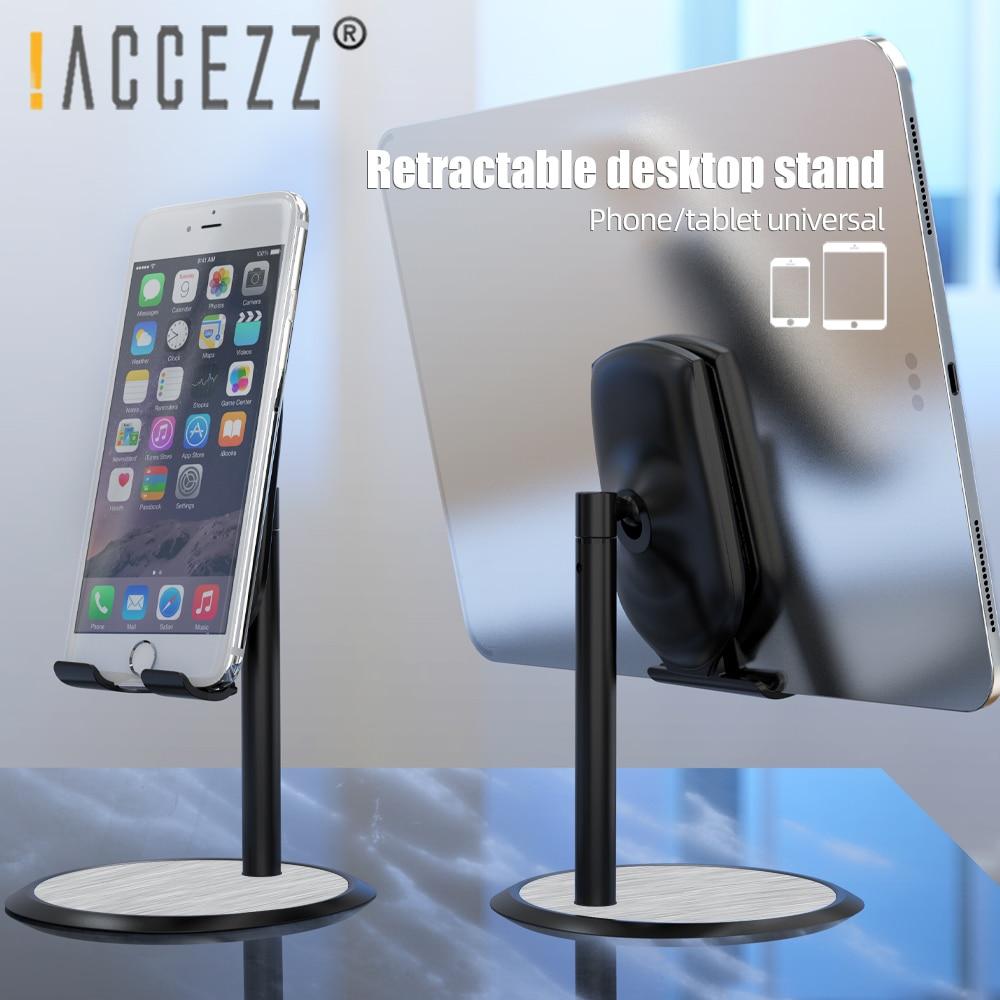 ¡! Soporte de teléfono ACCEZZ para Xiaomi iPhone 11 XS, tableta de escritorio ajustable para dispositivos móviles iPad, soporte de teléfono Stend