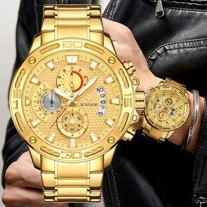 Мужские водонепроницаемые кварцевые часы с хронографом, в стиле милитари