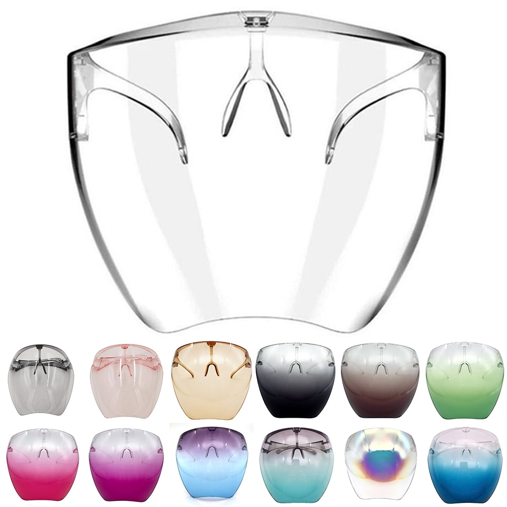 Cycling Glasses MTB Bike Glasses Eyewear Transparent Face Shield Dust-proof Face Cover Running prote