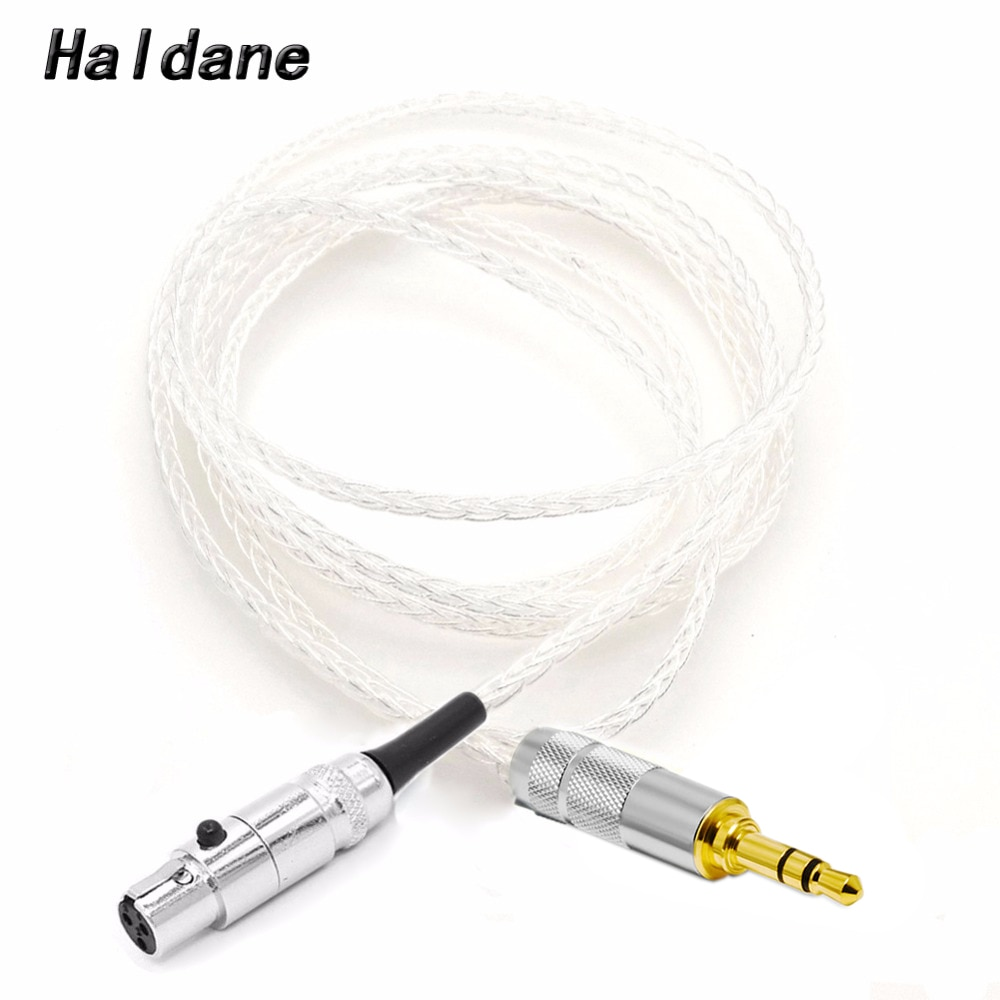 Haldane 8 Cores 7N OCC Silver Plated Earphone Upgraded Cable for K240 K242 K271 K272 K702 Q701 DT1990pro DT1770pro Headphones
