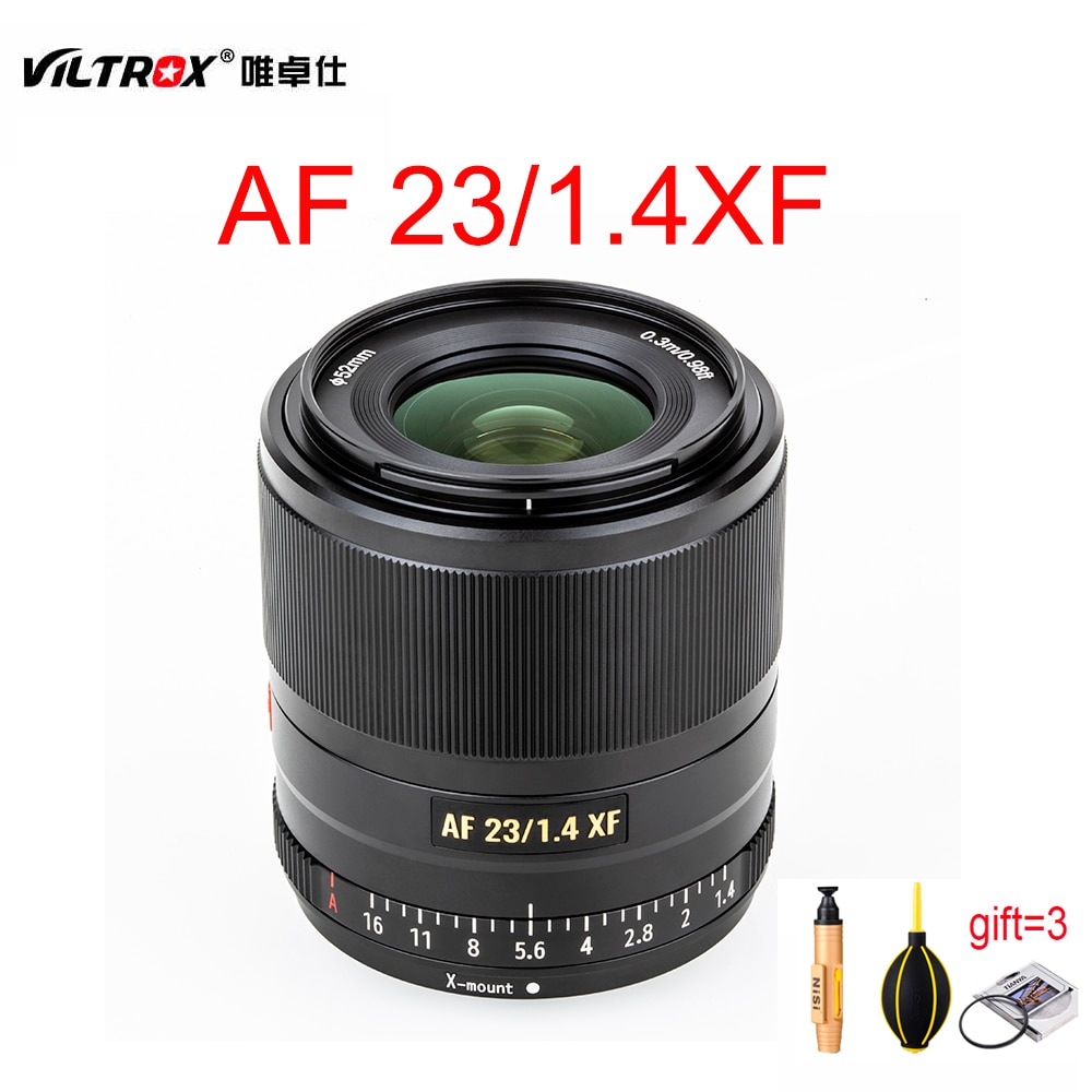 VILTROX 23mm F1.4 XF AF 23/1.4 STM lente de enfoque fijo para Fujifilm FUJI x-mount X-T3 X-H1 X20 XT30 XA5 XA7 XT2 Cámara