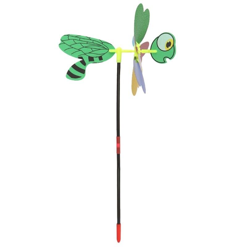 3d lantejoulas animal abelha moinho de vento spinner casa jardim quintal decoração crianças brinquedo y4ud