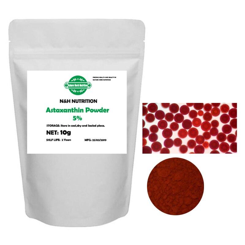 Naturaleza pura 5% astaxantina en polvo, Xia Qing Su, ingredientes cosméticos, extracto de Haematococcus Pluvialis para antioxidante antienvejecimiento