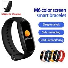 M6 Smart Band 6 Men Women Bluetooth Fitness Bracelet Sport Tracking Smartwatch Heart Rate For Apple