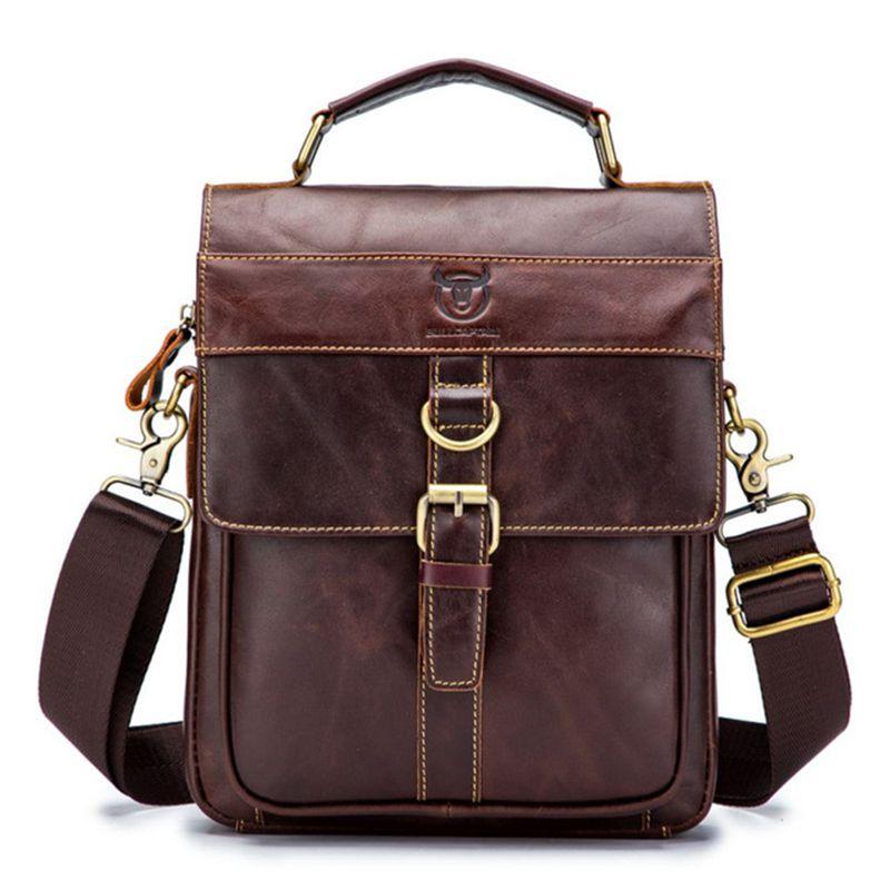 Weysfor Genuine Leather Men's Messenger Bag Shoulder Bags for Men Crossbody Bags Small Man Designer Shoulder Handbag Bolso Male