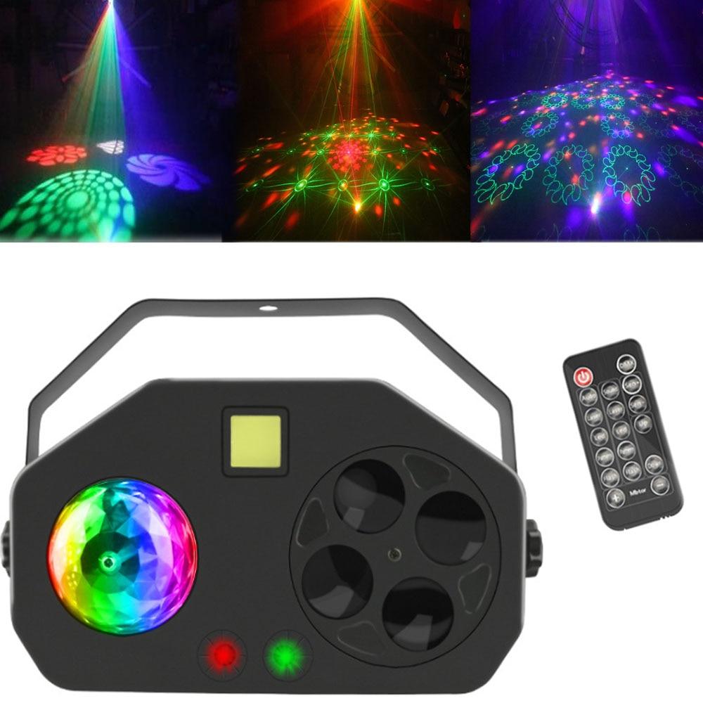 RGBW Led DJ Laser Disco Light Strobe Magic Ball Laser Project DMX 512 Stage Lighting Effect Bar Coffee Home Party Wedding Light
