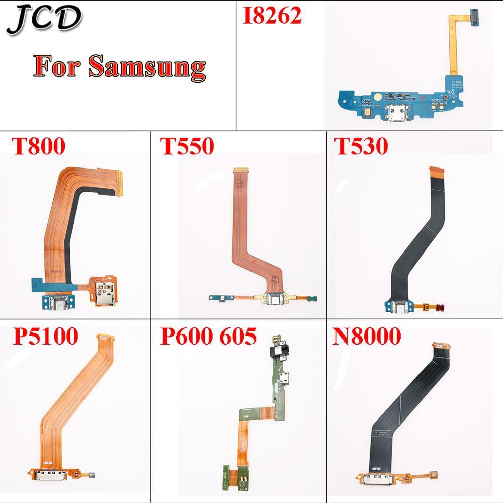 JCD para Samsung Galaxy Tablet I8262 T800 T500 T530 P5100 P600 605 N8000 conector USB Mic Puerto cargador placa Dock flex Cable