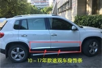car styling stainless steel body side moldings side door decoration for volkswagen tiguan tiguan l 2010 2019