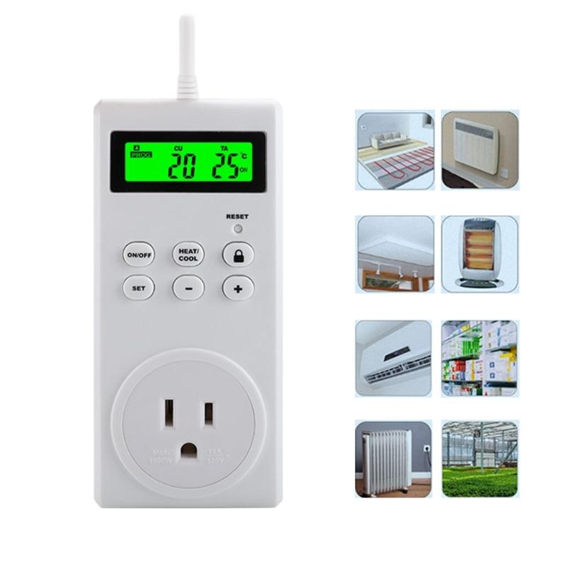 TS-3000 للبرمجة اللاسلكية ؛ ترموستات المقبس LCD تبريد التدفئة الذكية H3CF