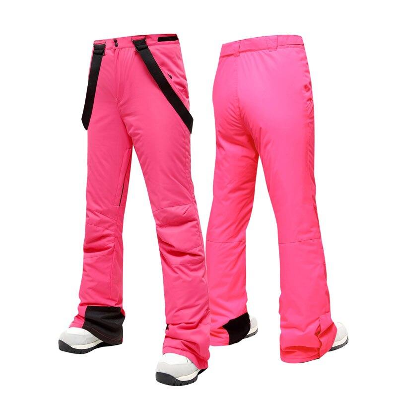 2019 nuevo pantalones de esquí ajustados de alta calidad a prueba de viento impermeable cálido par de pantalones de nieve de invierno esquí Snowboard pantalones de marca