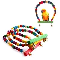 parrot bird toys cages parts accessories pet wooden stand chewable swing supplies bell calopsita canaries games budgie birds