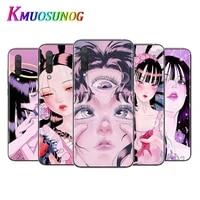 shintaro kago horror cartoons for xiaomi mi11 10t note10 ultra 5g 9 9t se 8 a3 a2 6x pro play f1 lite 5g transparent phone case