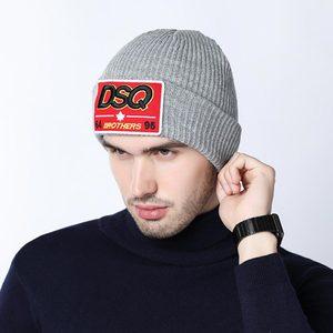 Брендовая Лыжная Шапка DSQICOND2 DSQ 64 brothers 95 С Вышивкой Букв, осенне-зимние теплые мужские и женские вязаные шапки, облегающая шапка