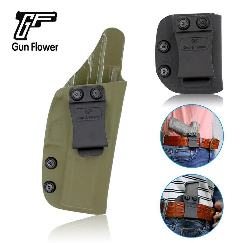 Pistola y flor caza táctica IWB pistolera para CZ 75 p10c-amry mano derecha verde Kydex Mag bolsa se adapta a 9mm &. 4 S & W