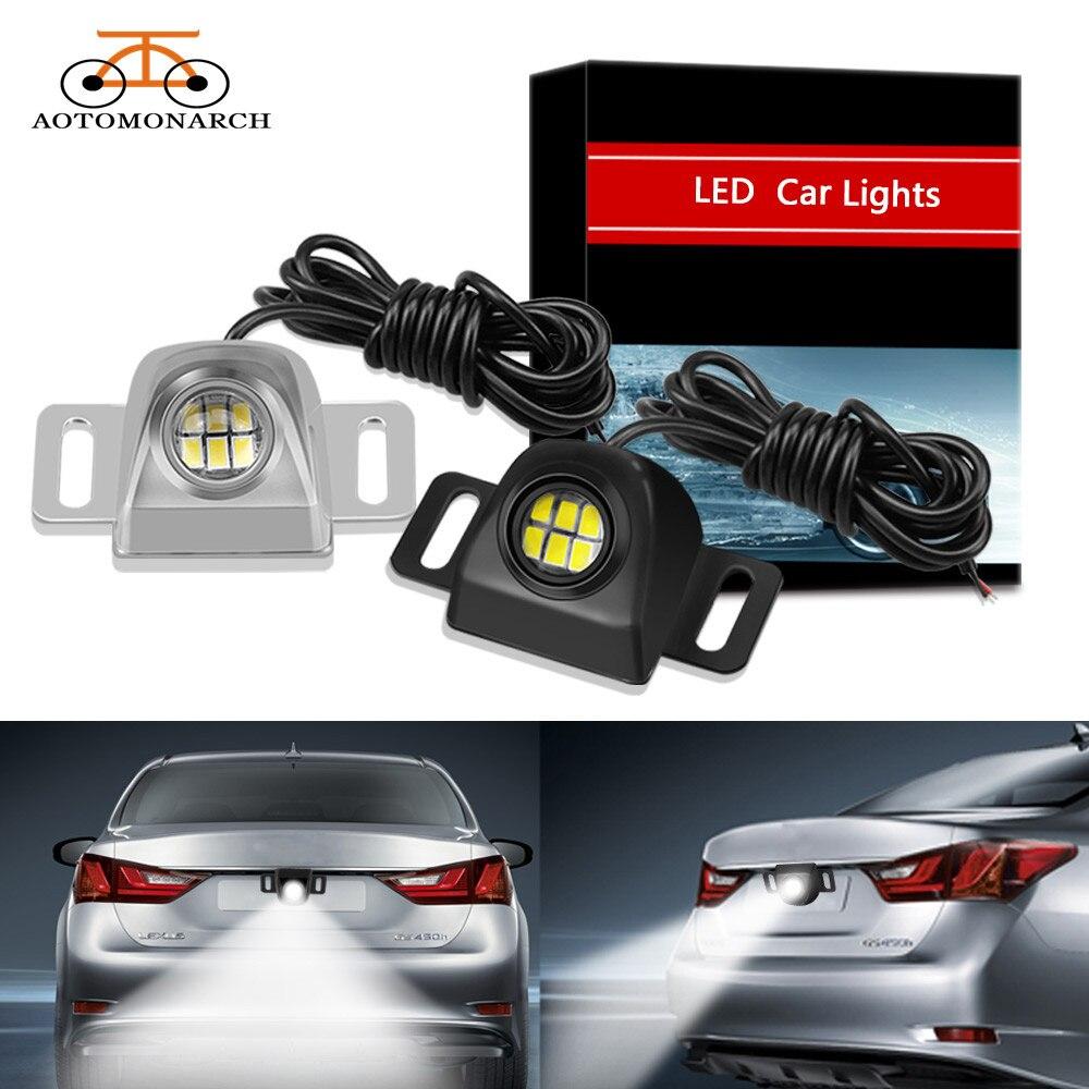 AOTOMONA, luces de marcha atrás externas automáticas, impermeables, universales, para automóviles, lámpara LED auxiliar de respaldo, bombilla LED para coche, 12V, CE