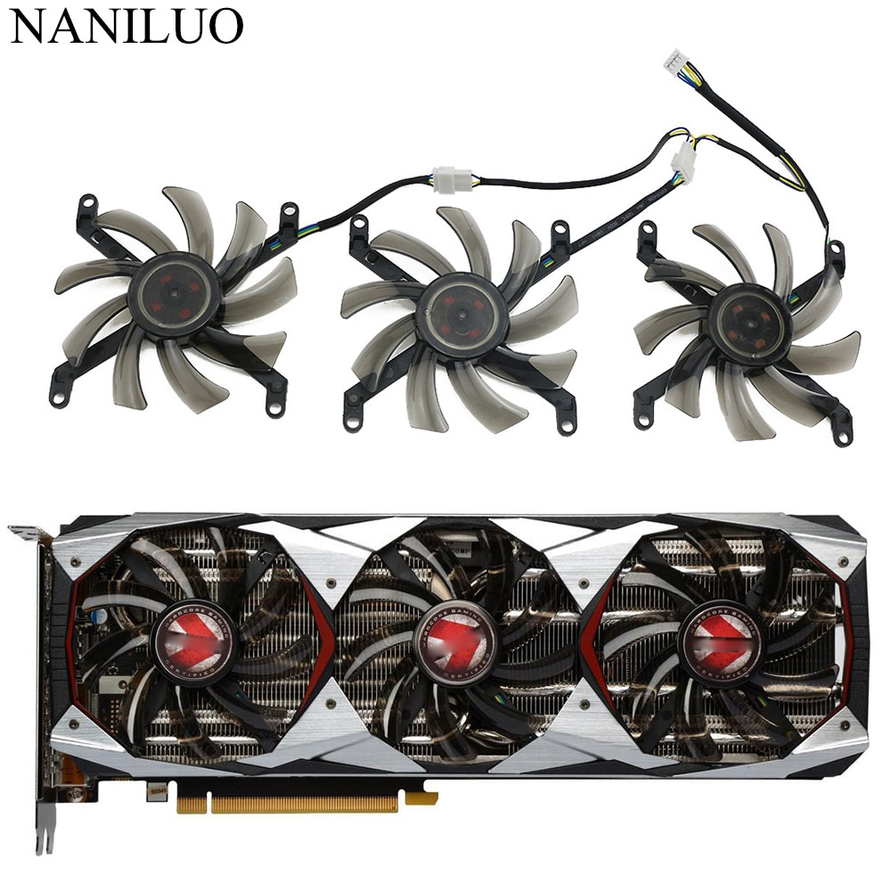 colorful geforce gtx 1660 ti graphics card T129215SU 0.50A GTX/1080Ti Cooler Fan Replace For PNY Manli GeForce GTX 1080 Ti 11GB XLR8 Gaming OC Graphics Card Fan