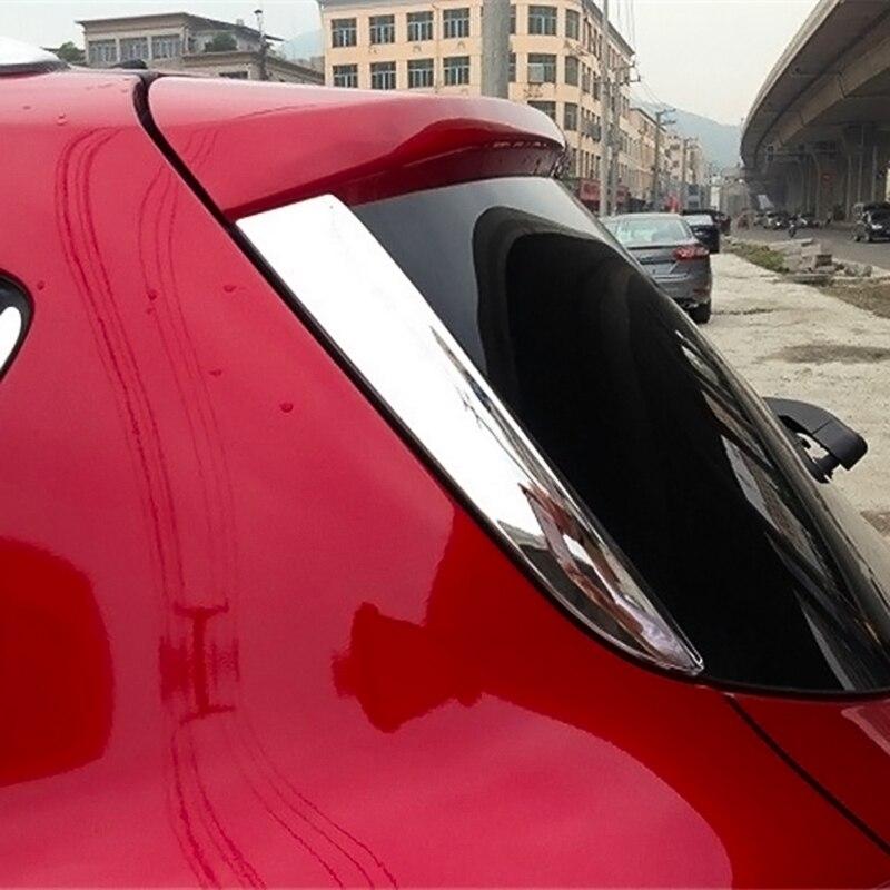 Alerón trasero embellecedores de alerón para Ford Escape Kuga 2013-2019, accesorios de cubierta de ventana cromada
