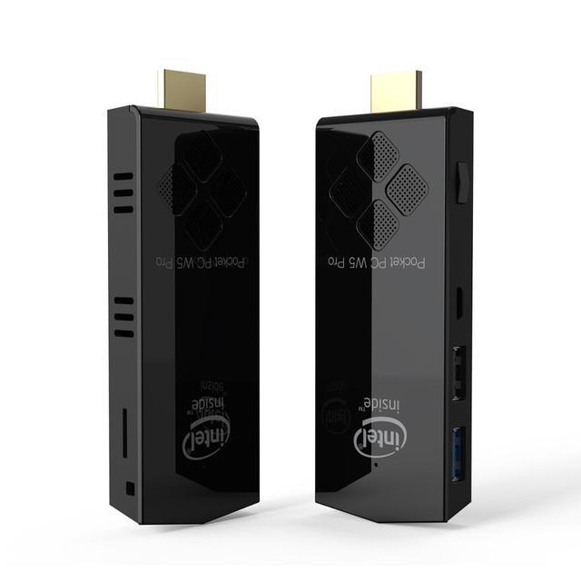 W5 pro fanless Windows10 Mini pc stick Intel Atom x5-Z8350  RAM 2GB EMMC 32GB 1000M lan office computer mini pc 4