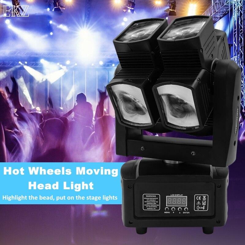 عرض ساخن علي ضوء المرحلة DMX LED 8x10 واط RGBW 4in1 تتحرك رئيس ضوء عجلة ساخنة لانهائية الدورية LED شعاع المرحلة KTV DJ حفل زفاف