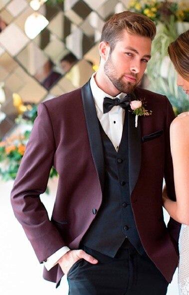 بدلة رسمية لرفقاء العريس 3 قطع للرجال ، بدلة زفاف أنيقة ، سترة رجالية ، عشاء حفلة موسيقية (جاكيت + بنطلون وسترة)