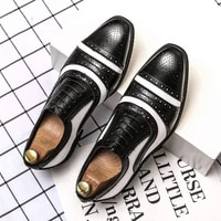 british style fashion designer mens shoes driving brand oxford leather large size luxurious office business bullock men casual