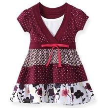 SheeCute Meisjes Peuter & Kids Korte Mouwen bohemian stijl jurk SCD029